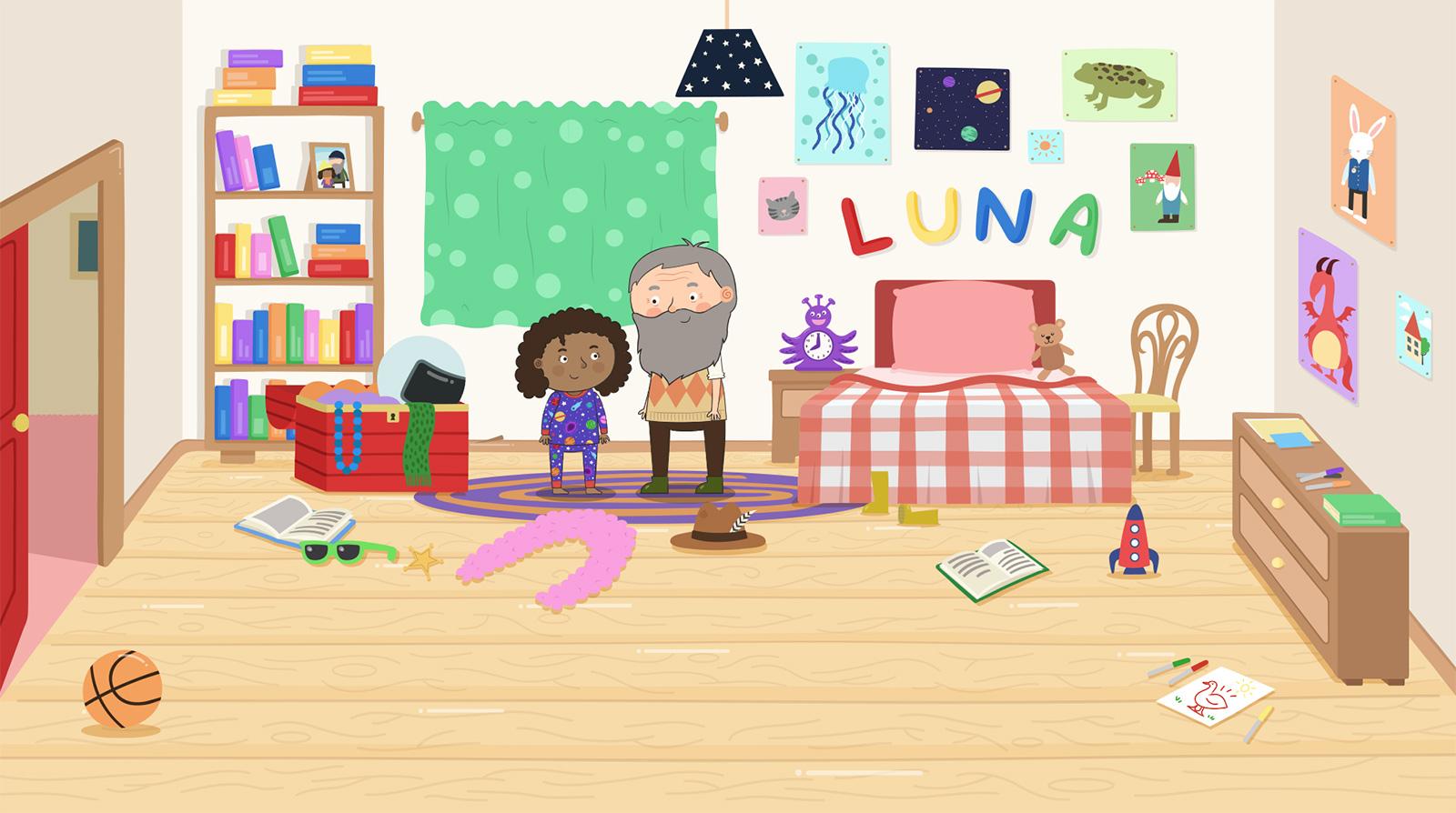 Lunas bedroom